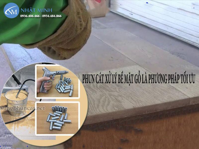 Phun cát làm sạch bề mặt phù hợp trên nhiều chất liệu