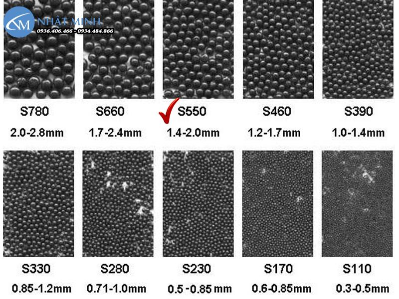 Hạt bi thép đa kích thước, khả năng tái sử dụng cao
