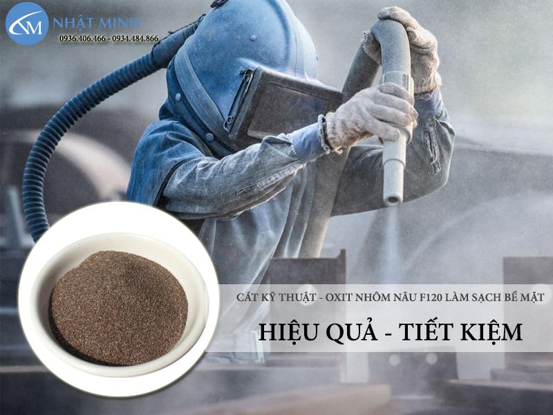 Cát kỹ thuật cho máy phun phục vụ tẩy rỉ làm sạch bề mặt được tin dùng nhất